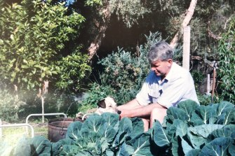Peter in his beloved garden in Sandringham.