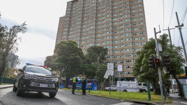 Nine Flemington and North Melbourne public housing estates were forced into lockdown.