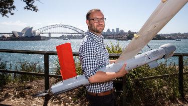 Ninox Robotics founder Marcus Ehrlich with one of his drones.
