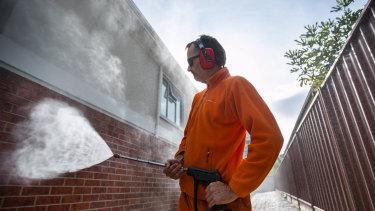 Luke Moylan, who runs a cleaning company, is in high demand.