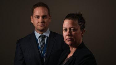 Detective Senior Constable Jason Regan and Detective Senior Constable Emma O'Rourke