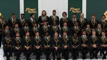 South Africa's 31-man squad is presented to media in Johannesburg.