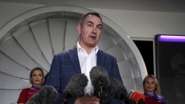 Ready for departure: Virgin Australia CEO Paul Scurrah.