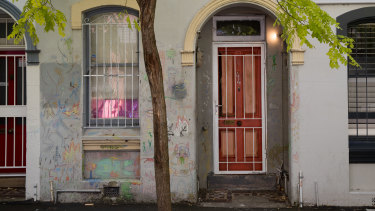Anthony Lister's Darlinghurst home where some of the alleged sexual assaults took place.