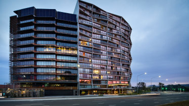 The Nishi building in New Acton, Canberra.