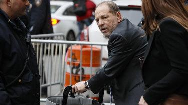 Harvey Weinstein leaving his Manhattan trial last week.