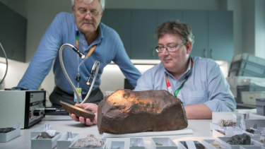 """The moment he lifted it, Dr Birch knew. """"If you saw a rock on earth like this, and you picked it up, it shouldn't be that heavy."""""""