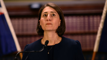 Gladys Berejiklian at a press conference after being endorsed to be the new NSW Premier in January 2017.