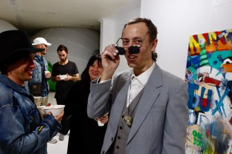 Australian artist Anthony Lister at the opening of an exhibition in 2019.