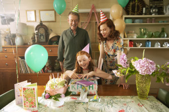 Richard Roxburgh, Daisy Axon and Emma Booth in H is for Happiness.