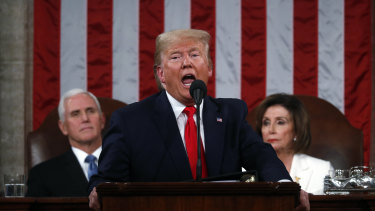 US President Donald Trump made the booming US economy the centrepiece of his State of the Union address.