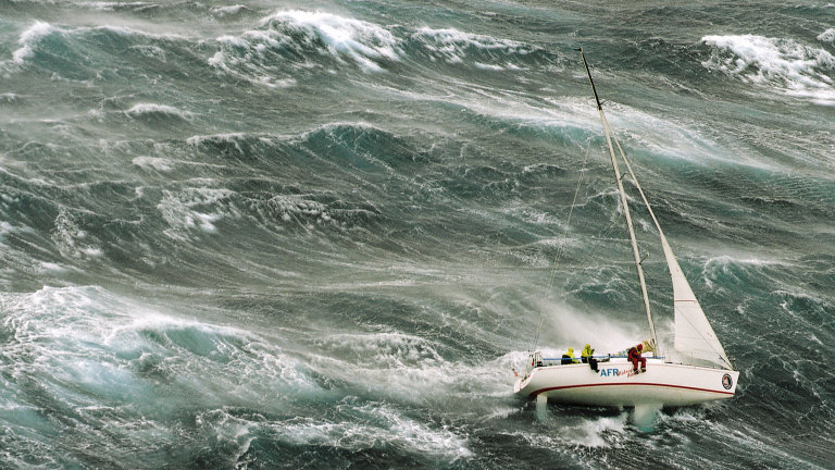 The dangerous storm during the 1998 Sydney to Hobart yacht race