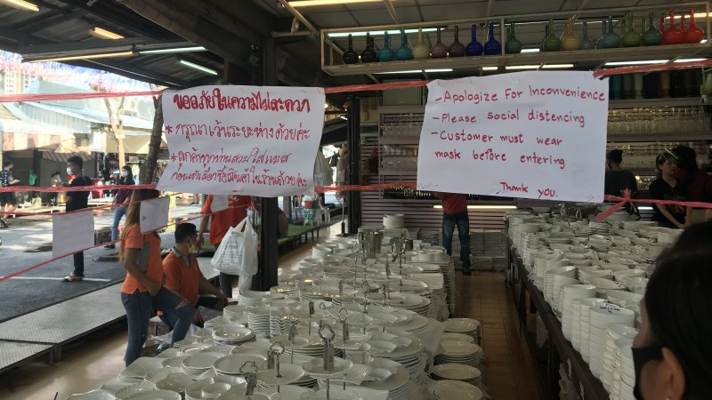 'Business is virtually dead': Thai market reopens but few tourists in sight