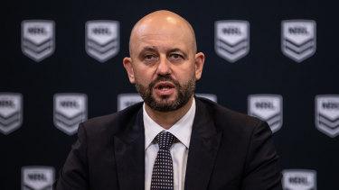 NRL chief executive Todd Greenberg.