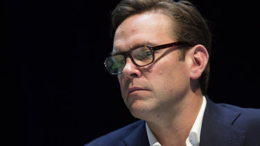 James Murdoch, the black sheep of the family.
