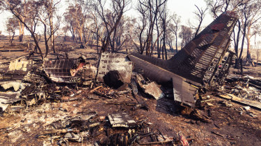 The C-130 crash site near Cooma in southern NSW.
