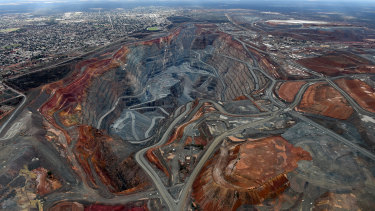 The Super Pit gold mine in Kalgoorlie.