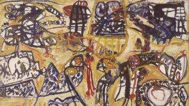 John Olsen, Spanish Encounter II, 1960