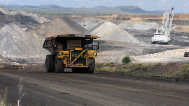 Glencore's Rolleston open cut coal mine in Queensland's Bowen Basin.