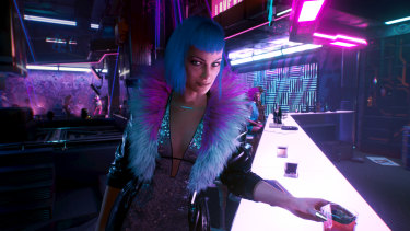 The world of Cyberpunk 2077 is a blend of shiny and grimey aesthetics.