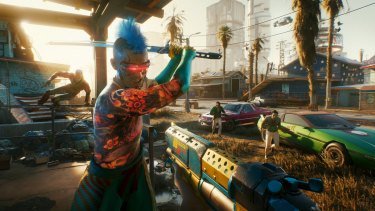 The game features first-person gun combat, buts your choices in upgrading your character are more important than your aim.