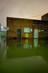 Simon Harsent said his entire studio was flooded in the space of 20 minutes on Sunday night.
