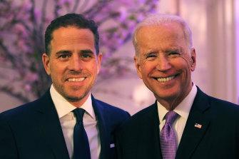 Joe Biden and son Hunter in 2016.