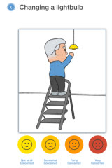 The screening test for falls asks people about whether they are afraid of falling, which is a risk factor in itself.