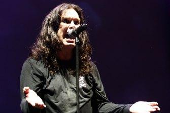 Ozzy Osbourne performs in Australia in 2008.