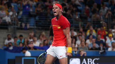Nadal eventually emerged on top.