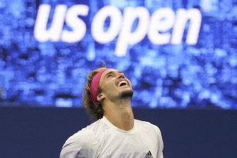 Alexander Zverev is into the men's final of the US Open.