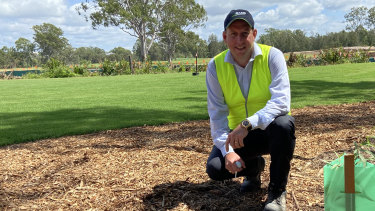 BMD chief executive Scott Power said fairway turf had been planted.