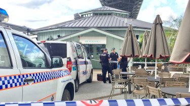 Shots were fired from Brisbane River at Mr Percival's bar at Howard Smith Wharves in the early hours of Monday.