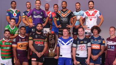 Canterbury captain Josh Jackson, who is not involved in the scandal, appears without a sponsor on his jersey at the NRL season launch. Two other players have been suspended by the club.