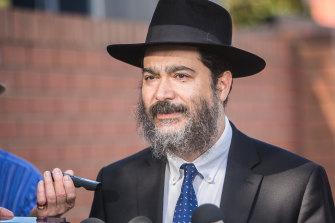 Yeshivah-Beth Rivkah school principal Dr Shimon Waronker talks to media about the school's closure.