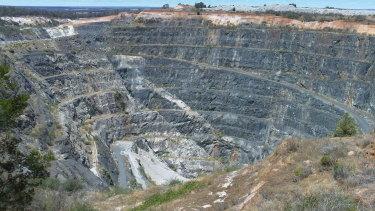 Greenbushes Lithium Mine in Western Australia.