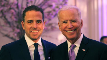 Democratic presidential nominee Joe Biden and son Hunter.