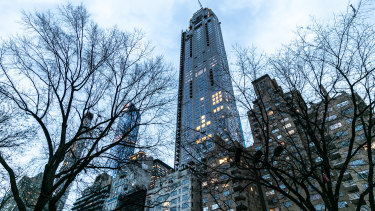 Manhattan's most expensive home, the penthouse at 220 Central Park South, which was sold to Ken Griffin for $US238 million.