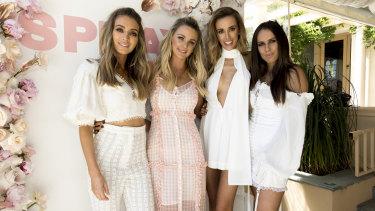 Spray Aus founders Nadia Bartel, Emily McKay, Rebecca Judd and Ellie Pearson.