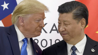 President Donald Trump, left, meets with Chinese President Xi Jinping during a meeting on the sidelines of the G-20 summit in Osaka, Japan, earlier this year.