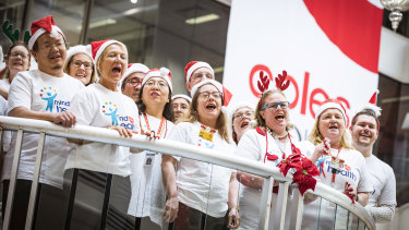 Coles' choir, officially known as the Coles Community Singers, has been running for nearly five years.