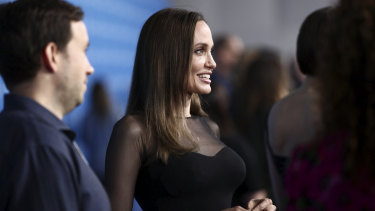 Eternally Angie ... The Eternals star Angelia Jolie arrives at D23.
