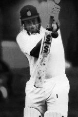 Century ... John Morris compiles his hundred against Queensland prior to his escapade.