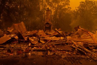 The town of Mogo on the NSW South Coast was devastated by bushfires on New Year's Eve.