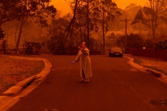 The South Coast town of Mogo in NSW was devastated by fires in December.