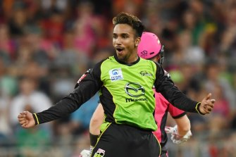Frequent flyer Arjun Nair and his Sydney Thunder mates will have flown more than 12,000km in just three weeks.
