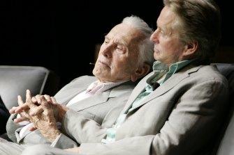 Kirk and Michael Douglas.