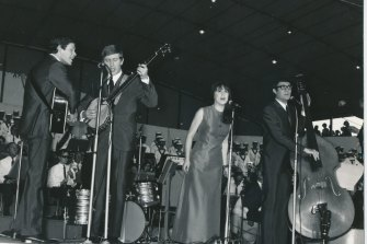 The Seekers performing at the Sidney Myer Music Bowl as part of Music for The People concerts.