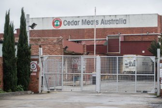 Cedar Meats was at the centre of coronavirus fears in Victoria in May.