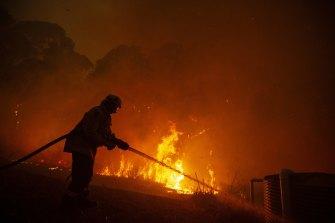 A blaze at Mangrove Mountain in December